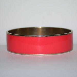 Beautiful gold and hot pink bangle bracelet